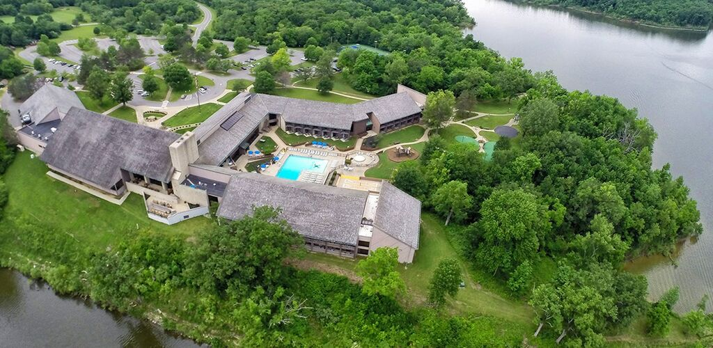 Aerial view of Deer Creek Lodge and Conference Center